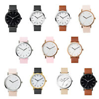 Fashion Women Men Casual Simple Analog Quartz Wrist Watch Leather Strap Watches