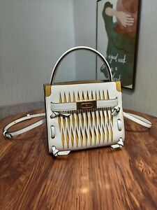 Tory Burch Lee Radziwill Cut-out Petite Double Bag - White