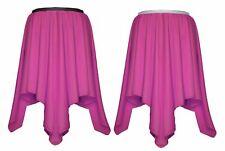 Womens Flower Pink Tulip Hankerchief Fancy Dress Summer Dance Skirt