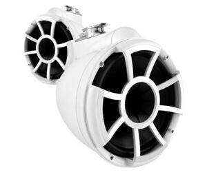 White Wet-Sounds Marine Tower Speaker 8 Inch
