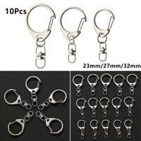 Stainless Steel Snap Hook Metal Swivel Trigger Key Chain Ring Split Ring