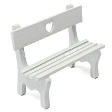 Mini Fairy Garden Wooden Chair Bench Model Wedding Doll House Decor Kids Gi I4V8