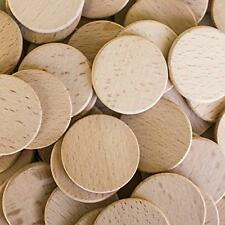 "Round Unfinished 1.5"" Wood Cutout Circles Chips for Arts & Crafts Projects, Boar"