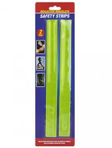 REFLECTIVE HIGH VISIBILITY SNAP BRACELETS ARM LEG BANDS SAFETY REFLECTOR HI VIS