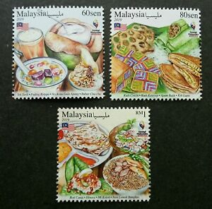 *FREE SHIP Malaysia Day Our Food 2019 Cuisine Fruit Cake Dessert Dish (stamp MNH