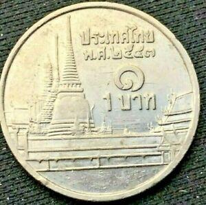 Thailand 2006  1 Baht    Copper Nickel     AU Coin    #K310