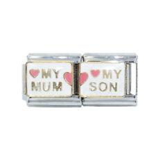 My Mum My Son Double Enamel Italian Charm - fits 9mm Nomination bracelets