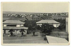 Judaica Palestine Old Postcard Geva in Foreground & Kfar Jecheskel in Distance