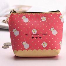 Cute Zipper Pencil Case Portable Key Coin Purse Makeup Bag Waterproof Gift C