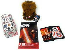 Disney Kids Star Wars Themed Gift Set 4pc: Mail Box, Stickers, Plush Toy, Wallet