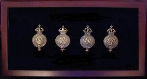 🦅 NSW POLICE FORCE, Australia, old Brass HELMET PLATES. 🦅