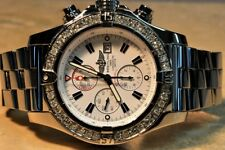 Breitling Super Avenger 2 with Diamond Bezel Box / COSC /  Booklet A13370