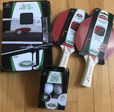 NEW Table Tennis Net & Post Set, Paddle Eps 2.0, Tennis Balls EASTPOINT Easy Set