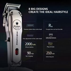 Kemei KM-1996 Cordless Electric Men Hair Clipper Trimmer Shaver Cutter Razor
