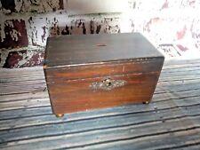Antique Victorian Edwardian Wooden Tea Caddy Caddie Display Money Box Storage