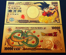 Billet 10000 Nippon Ginko Japon OR Polymère doré 24k Dragon Ball Z