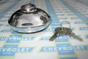1937-1972 Chevrolet, Chevrolet Truck, GMC | GM Locking Gas Cap | 2 Keys | Chrome