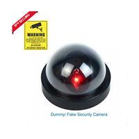 Home Security LED Fake Dome Camera Surveillance Flashing Dummy+CCTV Sticher