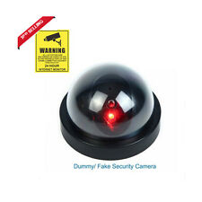 Home Security LED Fake Dome Camera Surveillance Flashing Dummy+CCTV Sticher
