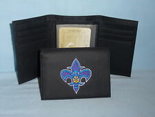 NEW ORLEANS HORNETS   embroidered  Leather TriFold Wallet    NEW    black