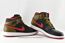 Air Jordan 1 Retro Phat - SIZE 10 - NEW - 364770-040 Red Olive Green White I OG