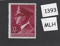 #1393     MLH stamp / Adolph Hitler 1942 Birthday / WWII Germany / Third Reich