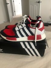 Mens Adidas NMD TRAIL PK Size 12 RED WHITE BLUE GOOD CONDITION