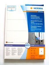 Herma 10141 Spezial  Ablösbare Ordneretiketten, weiß, 400 Etiketten 192 x 61  mm