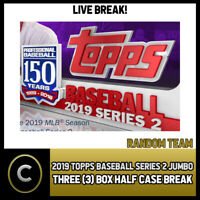 2019 TOPPS BASEBALL SERIES 2 JUMBO 3 BOX HALF CASE BREAK #A238 - RANDOM TEAMS