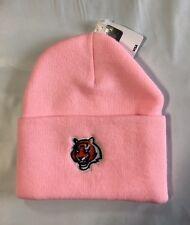 Cincinnati Bengals Knit Beanie Winter Hat Toque Skull Cap NEW Pink Cuffed Womens