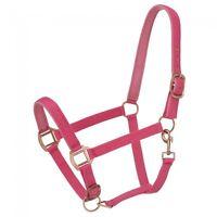 Tough 1 Premium Padded Nylon Pink Horse Size Halter 50-2022