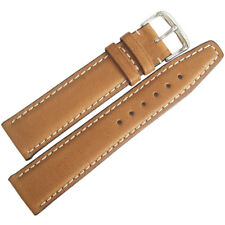 18mm RIOS Mens Havana Cognac Tan Pigskin Leather German Made Watch Band Strap