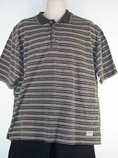 Men's Levi's Size Large Striped Short Sleeve Polo (L) - Brown