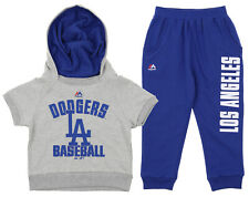 Majestic MLB Little Girl's Los Angeles Dodgers Fan Girl Pant Set, Blue