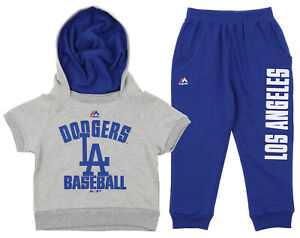 Majestic MLB Little Girl's Los Angeles Dodgers Fan Girl Pant Set, Blue