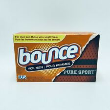 Bounce For Men Pure Sport Fabric Softener Dryer Sheets 105 Sheets New