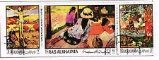 Ras Al Khaima Art Famous Gauguin Paintings stamps set 1969