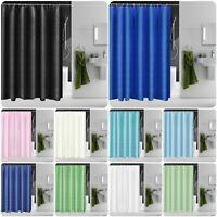 Waterproof Polyester Fabric Bathroom Shower Curtain & Ring Hooks 180 x 180 CM
