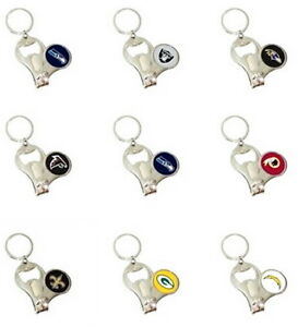 NFL 3-IN-1 KEYCHAIN, NAIL CLIPPERS, BOTTLE OPENER, KEY RING PICK THE TEAMS