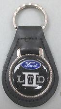 Vintage Black Ford LTD II Black Leather USA Keyring Key Fob Key Holder