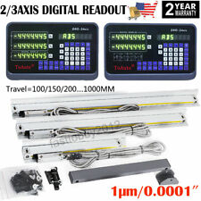 Linear Scale 2/3 Axis Digital Readout Dro 1μm Ttl Glass Encoder for Mill Lathe
