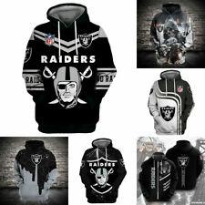 Las Vegas Raiders Hoodies Hooded Football Sweatshirt Pullover Casual Jacket Coat