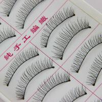 10 Pairs New Natural Fashion Eyelashes Eye Makeup Long False Lashes Sparse PIG