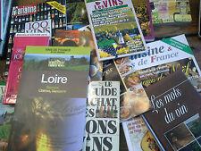 Lot de 16 livres et revues sur le vin