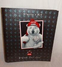"Coca Cola Polar Bear Baseball 2"" Curve-back 3 Ring Binder 1997"