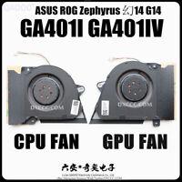 ASUS ROG Zephyrus G14 GA401I GA401IV CPU & GPU COOLING FAN 13NR03F0AP0301 DC12V