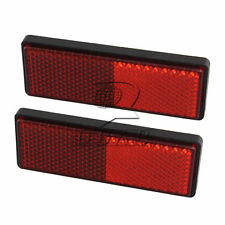 2PCS Square Red Reflectors Universal For Motorcycles ATV Bikes Dirt Bikes Motor