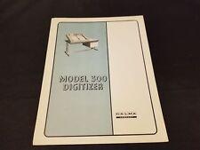 1965 Calma Company Model 300 Digitizer Bulletin Brochure Info & Specs Euc