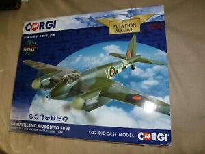 NIB Corgi De Havilland Mosquito FBVI MM403 SB-V 464 Squadron RAAF 1:32 Diecast