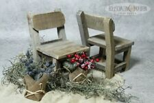 Kleiner Stuhl Deko Blumen Holz Blumenhocker Blumenbank Sitz Holzhocker Vintage